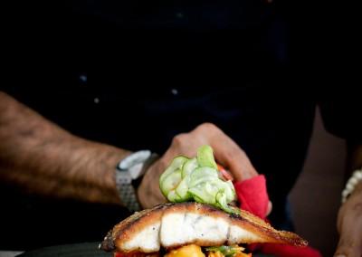 Crispy Barramundi with Pawpaw salad